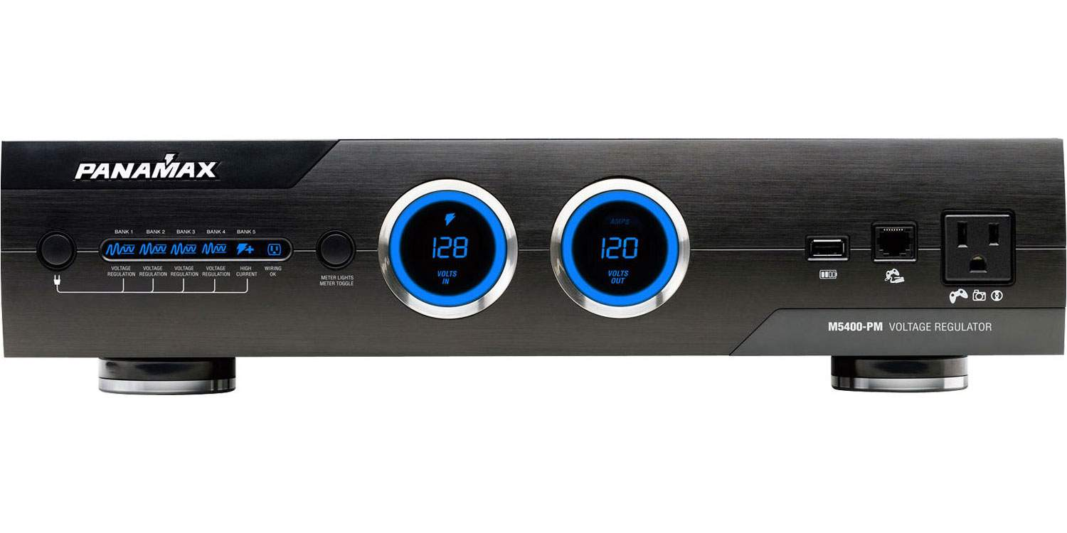 Panamax M5400 Pm Max 5400 Power Management W Voltage Regulation High Current Regulated Supply 2ru 11 Outlets Audio Inc